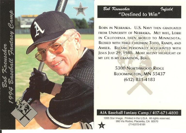 Bob's Baseball card 1994